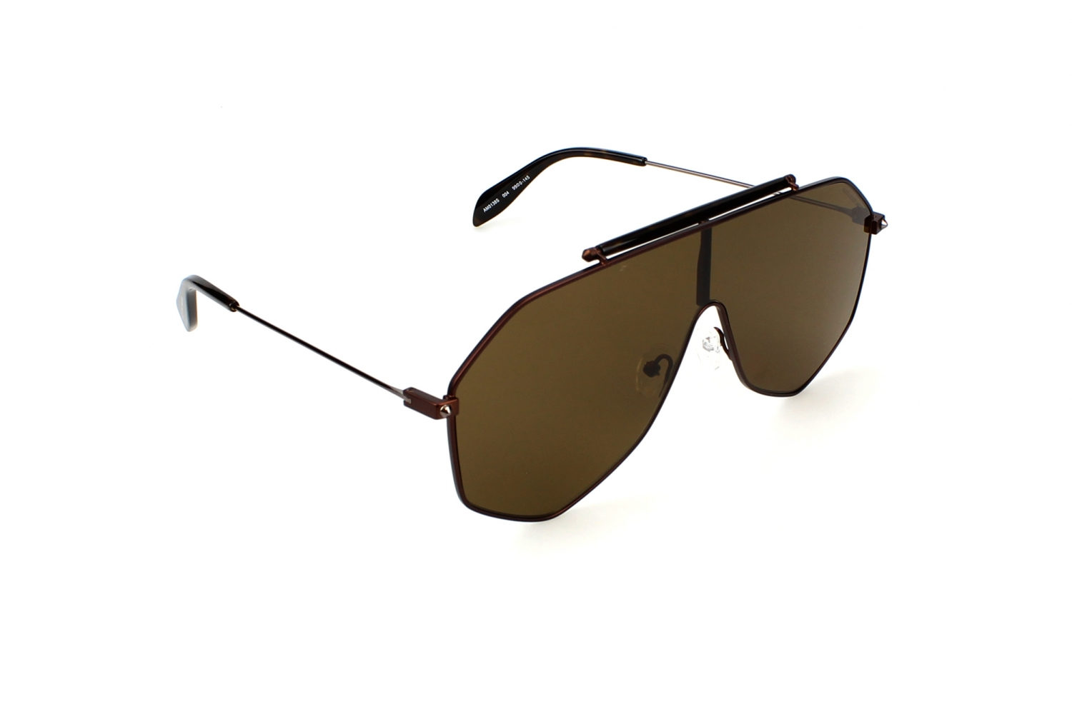 Alexander McQueen AM0138S 004 Brown Ruthenium Brown