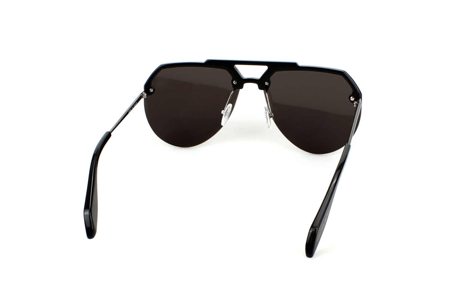 Alexander McQueen AM0139S 002 Black Ruthenium Grey